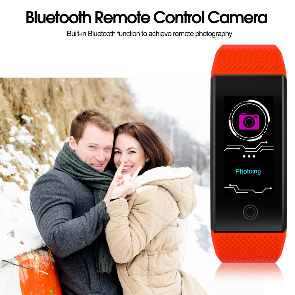 Bakeey QW18 0.96inch IPS IP68 Heart Rate Monitor Multi-sport Mode Fitness Tracker Smart Wristband
