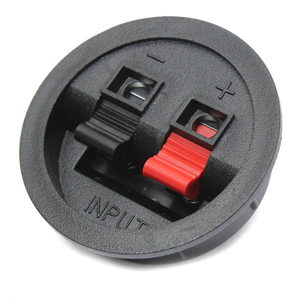 2 Way Speaker Box Binding Post Terminal Cup Round Spring Clip