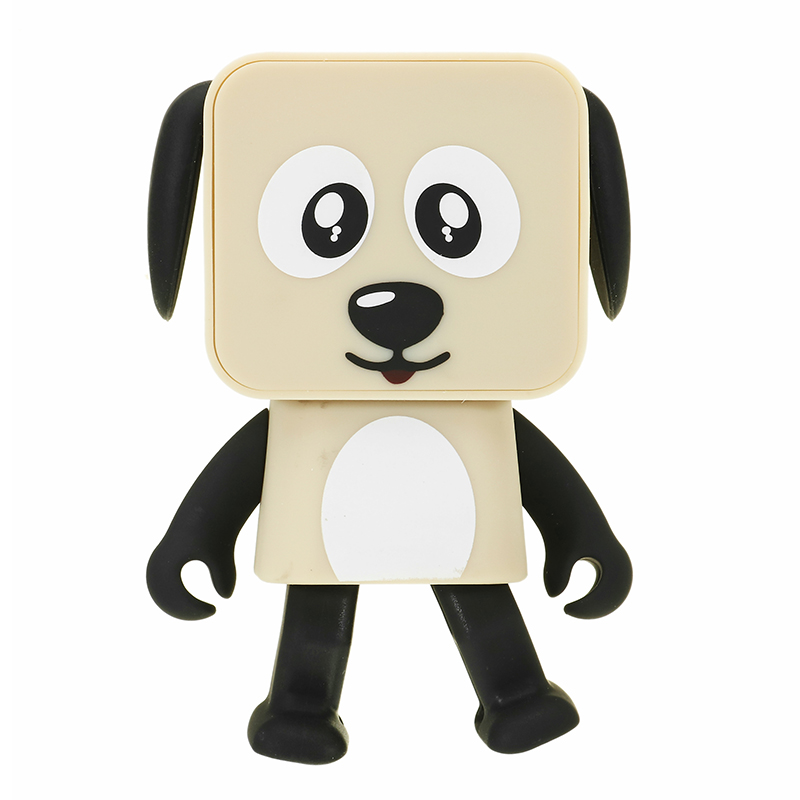 Small Square Robot Dancing Dog Portable Wireless bluetooth Smart Speaker Kids Gift Novelties Toys