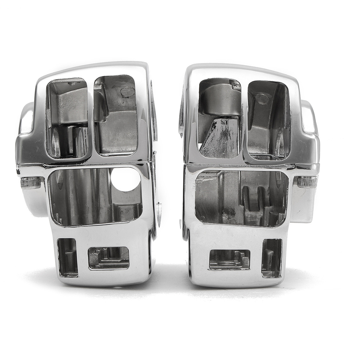 Chrome Switch Housing Cover Caps for Harley 883 XL1200 Road King/Electra Glide