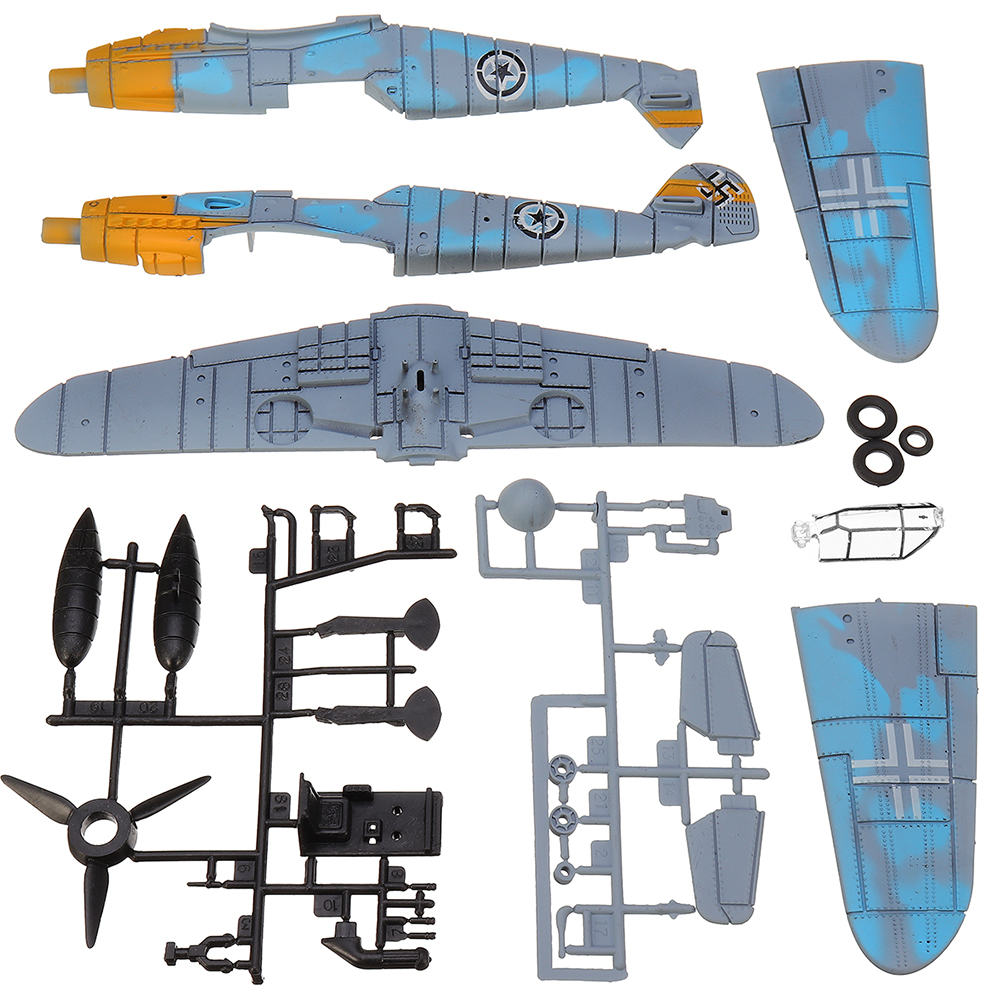 4D Model Plastic Aircraft Assemble Plane Toy 1/48 Supermarine Spitfire Fighter 18*22CM