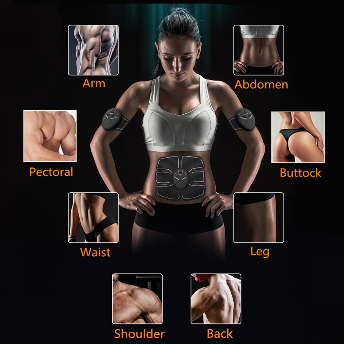 KALOAD 14pcs Muscle Training Gear Hip Buttocks Lifting ABS Fitness Exercise Hip Trainer Stimulator