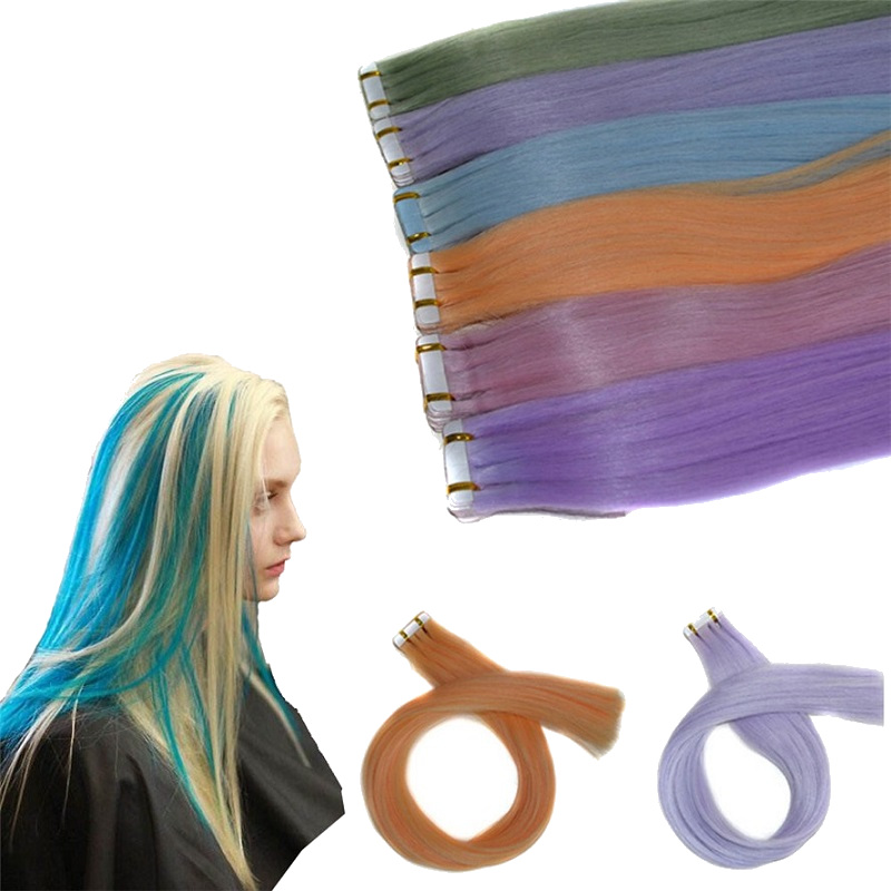 Light Variable Temperature Change Wig Hair Extensions
