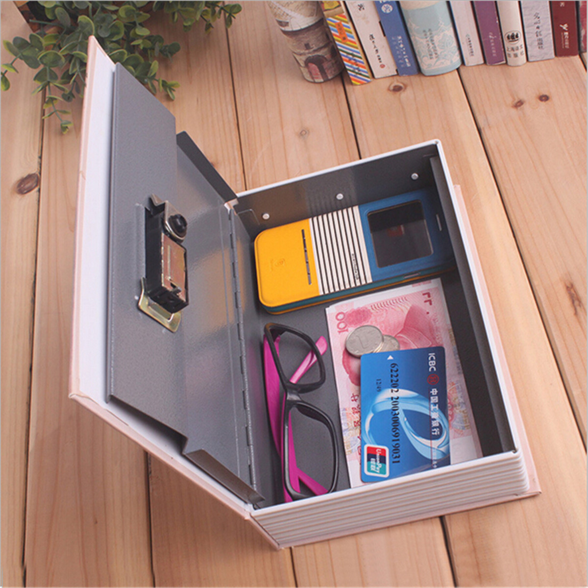 Children Kids Cash Money Bank Jewelry Storage Case Simulation Dictionary Pattern Security Safe Box