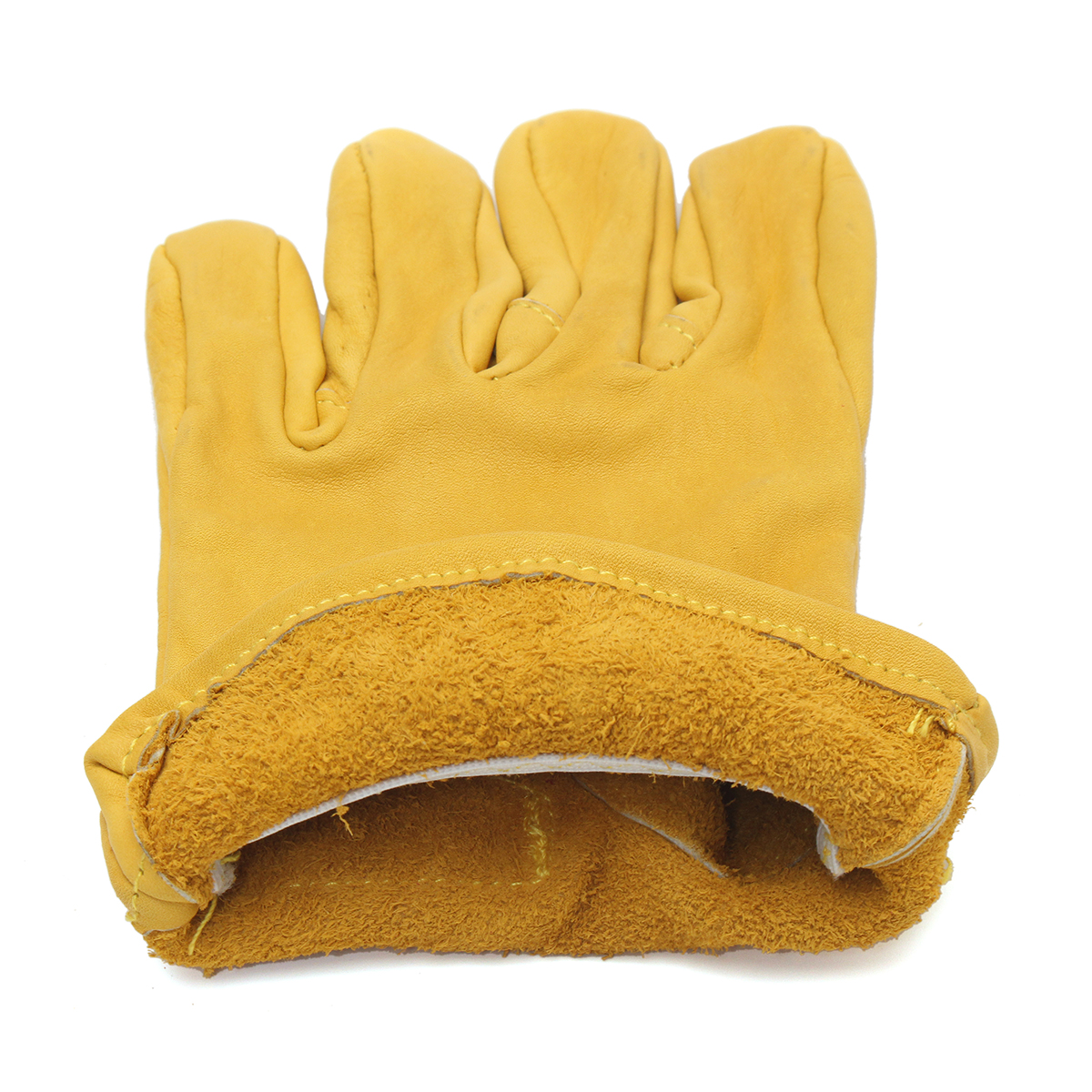 Leather Yellow Motorcycle Motorbike Multifunction Racing Gloves M L XL XXL