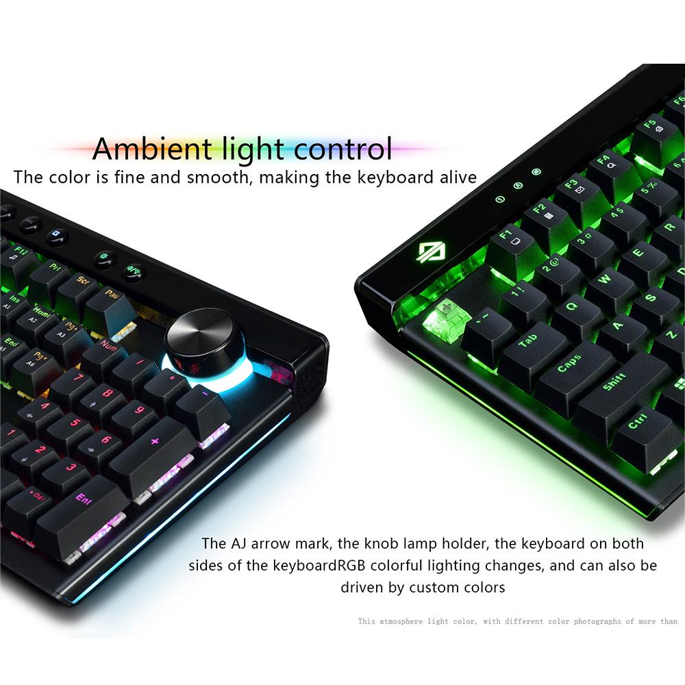 Ajazz AK45 104 Key BOX Switch RGB Mechanical Gaming Keyboard with Wrist Rest