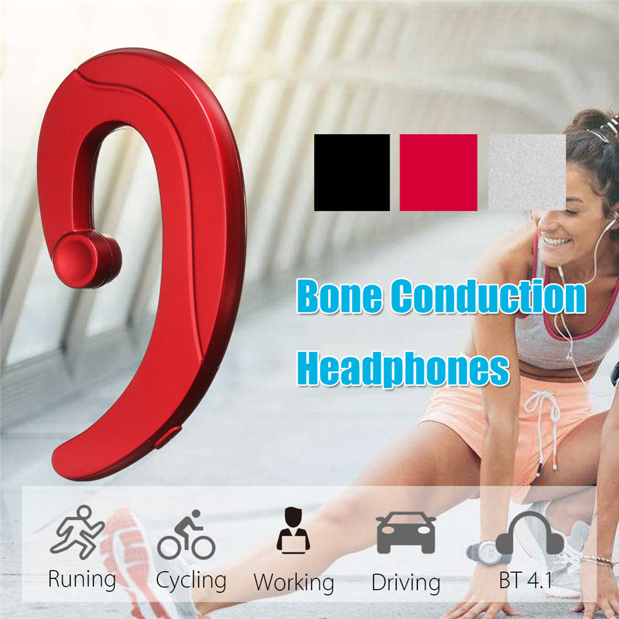 Smart Wireless Bone Conduction bluetooth Headset Earphone For Smartphone Tablet