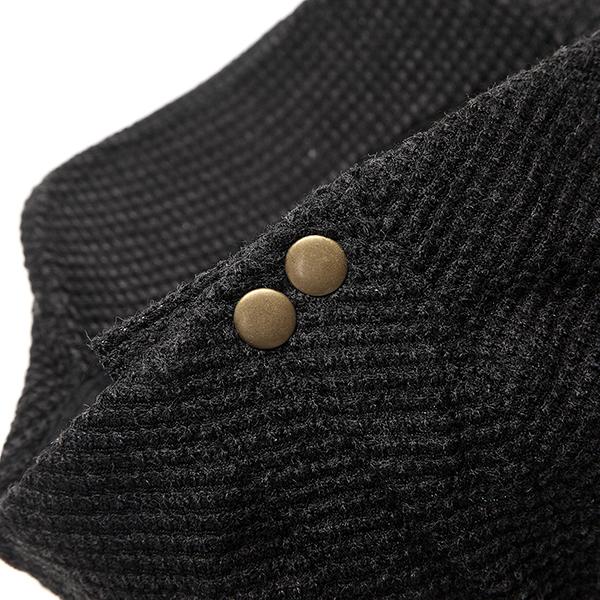 Child Boys Cotton Washed Buckle Stripe Stars Beret Cap Adjustable Beret Sport Baseball Hat