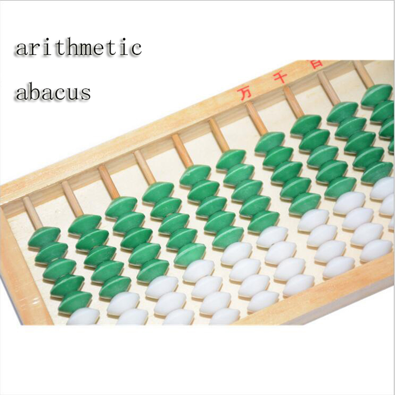 Children Rods Colorful Beads Wooden Abacus Arithmetic Soroban Kid's Calculator Tool Toy Education
