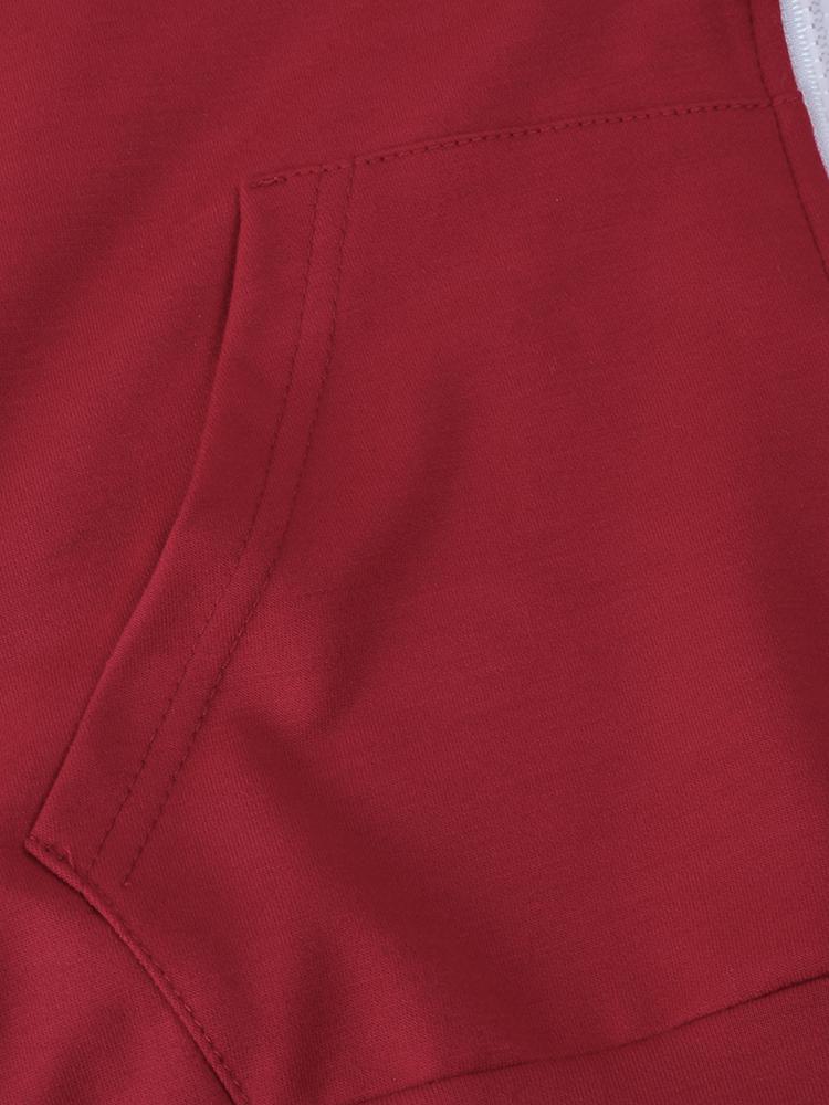 Casual Women Zipper Hooded Sweatshirt Sets