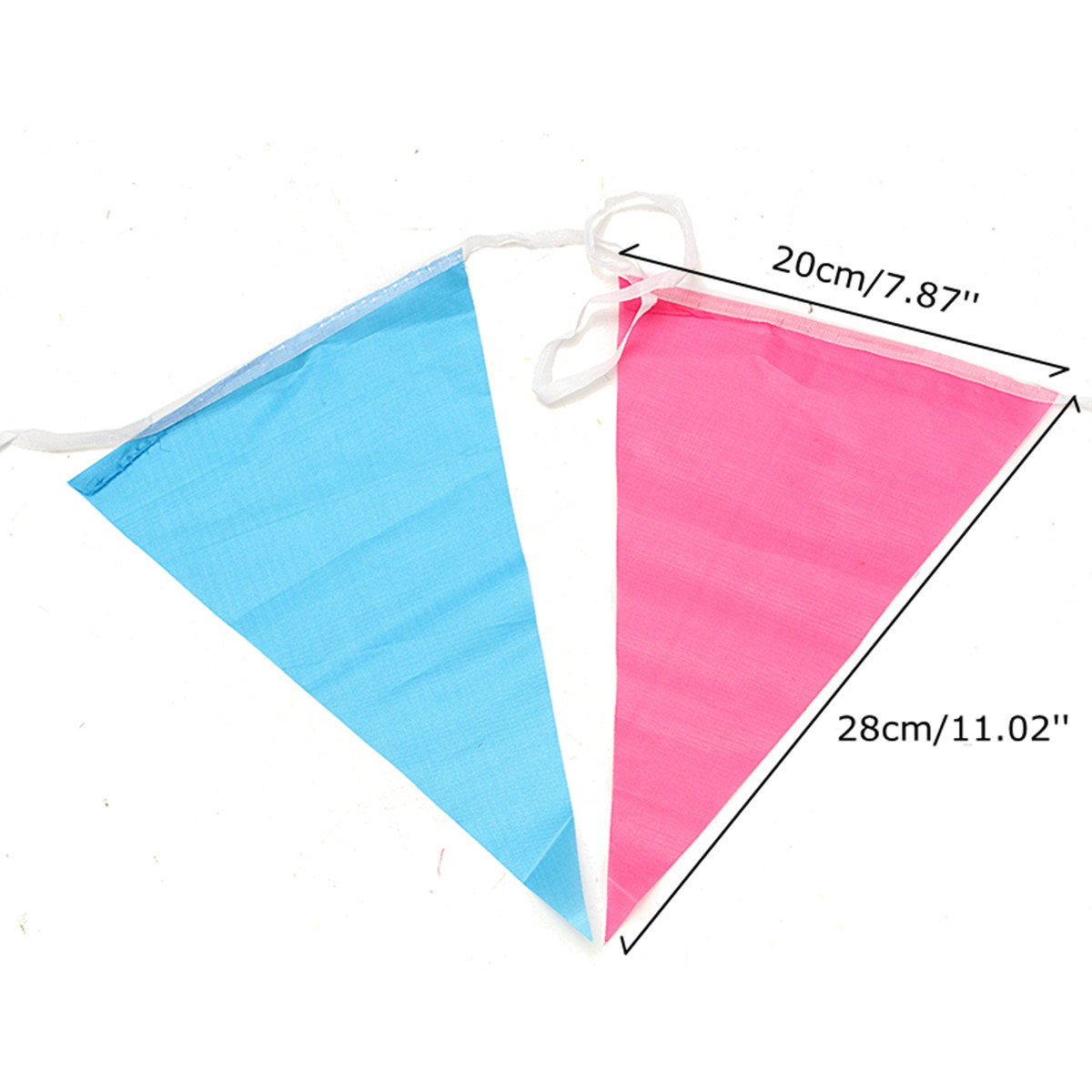 125ft Multicolors Triangle Pennant Flag Party Wedding Birthday Banner Bunting Decorations