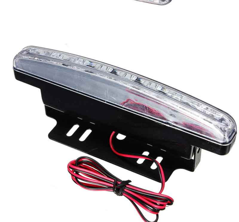 2pcs 2.4W 500LM 8 LED Daytime Running Lights DRL Bright Head Lamp Light for Car