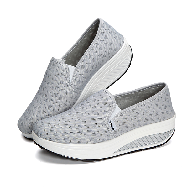 Women Breathable Mesh Casual Rocker Sole Shoes