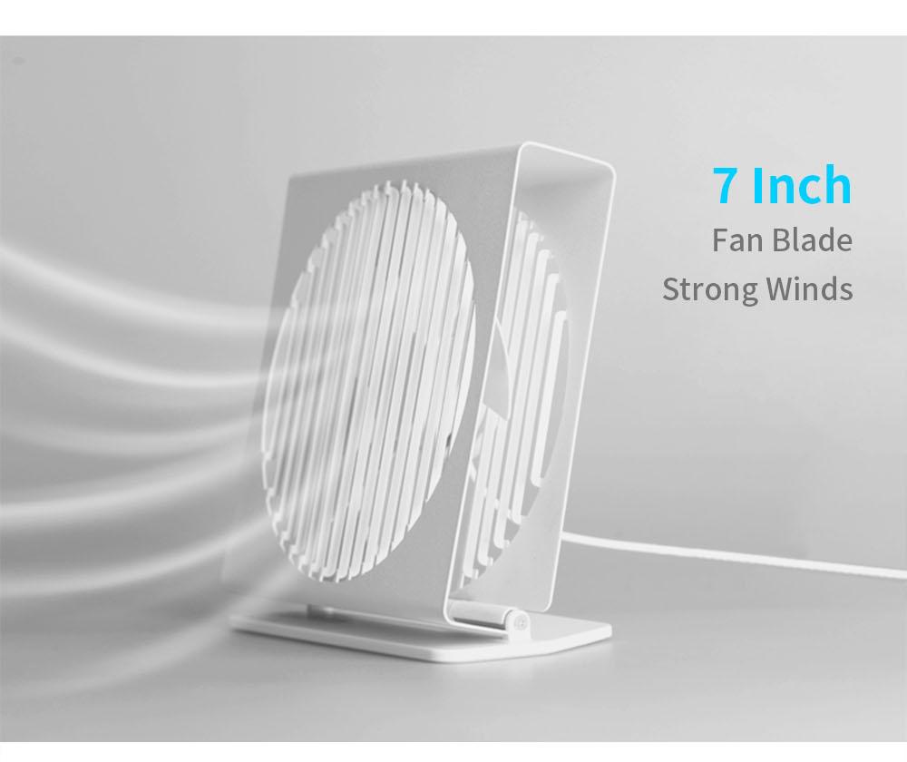 VH CE 7 Inch Portable Mini Metal Mute Fan Dual Mode Home Office Desk Brushless Motor Fan