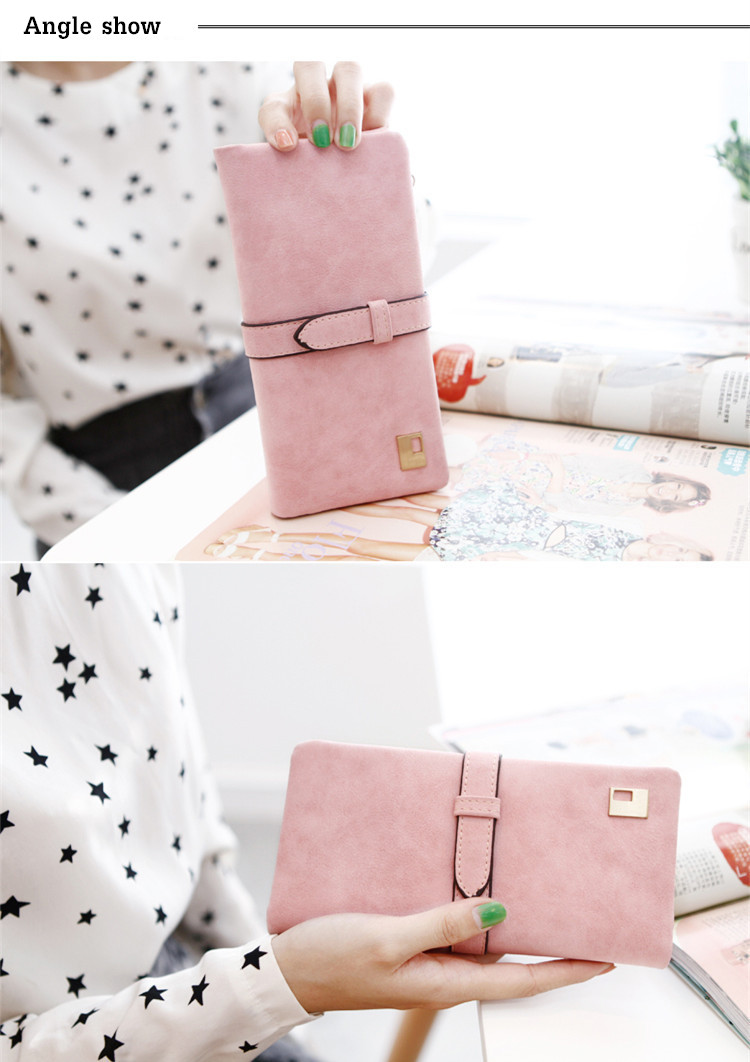 Woman Multifunctional Matte PU Wallet Card Slots HandBag Phone Purse For 5.5-inch Smartphone