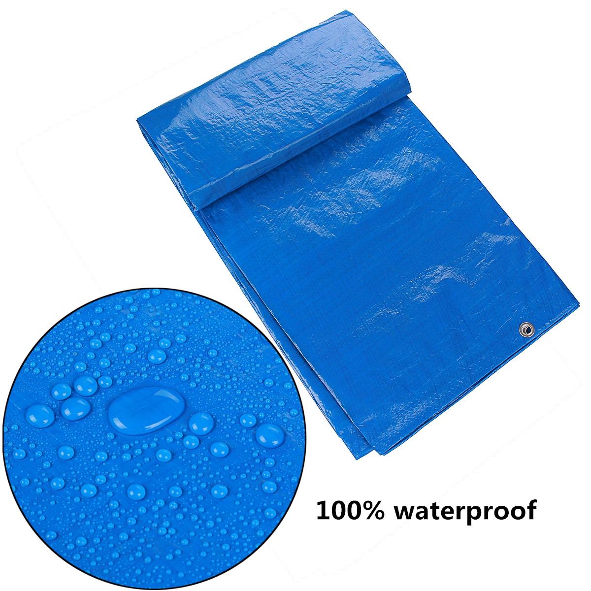 Waterproof Cover Tarpaulin Groundsheet Camping Light Weight Tarp Tarp Tarp for Car Outd... e5075e