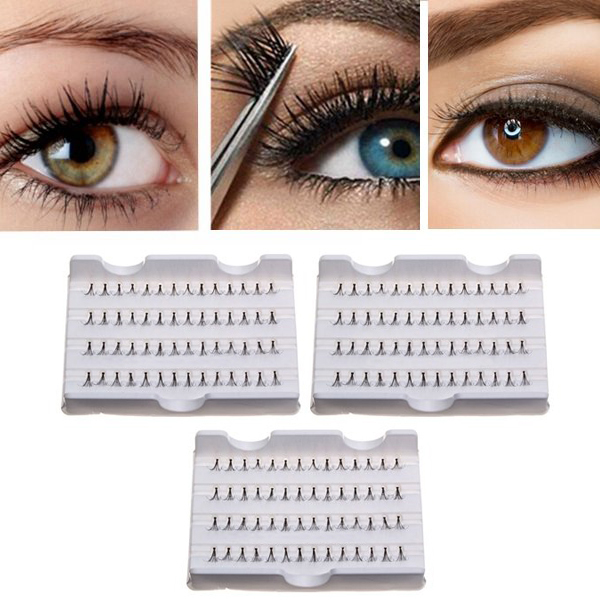 81012mm Cluster Individual False Eyelashes Flare Black Fake Lash