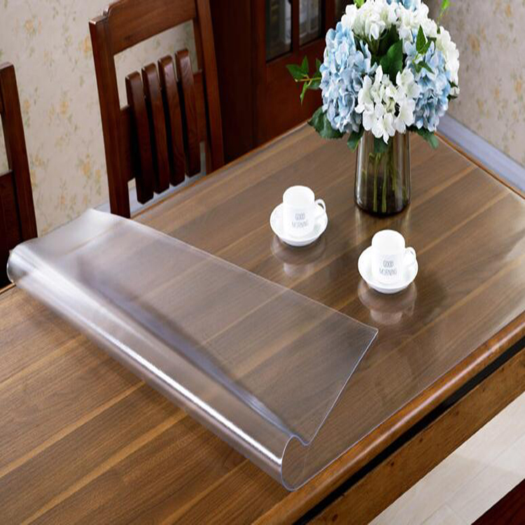 Honana PVC Transparent Soft Glass Crystal Plate Plastic Frosted Tablecloth Waterproof PVC Table Mat Transparent Household Waterproof Tablecloth PVC Table Mat Crystal Board