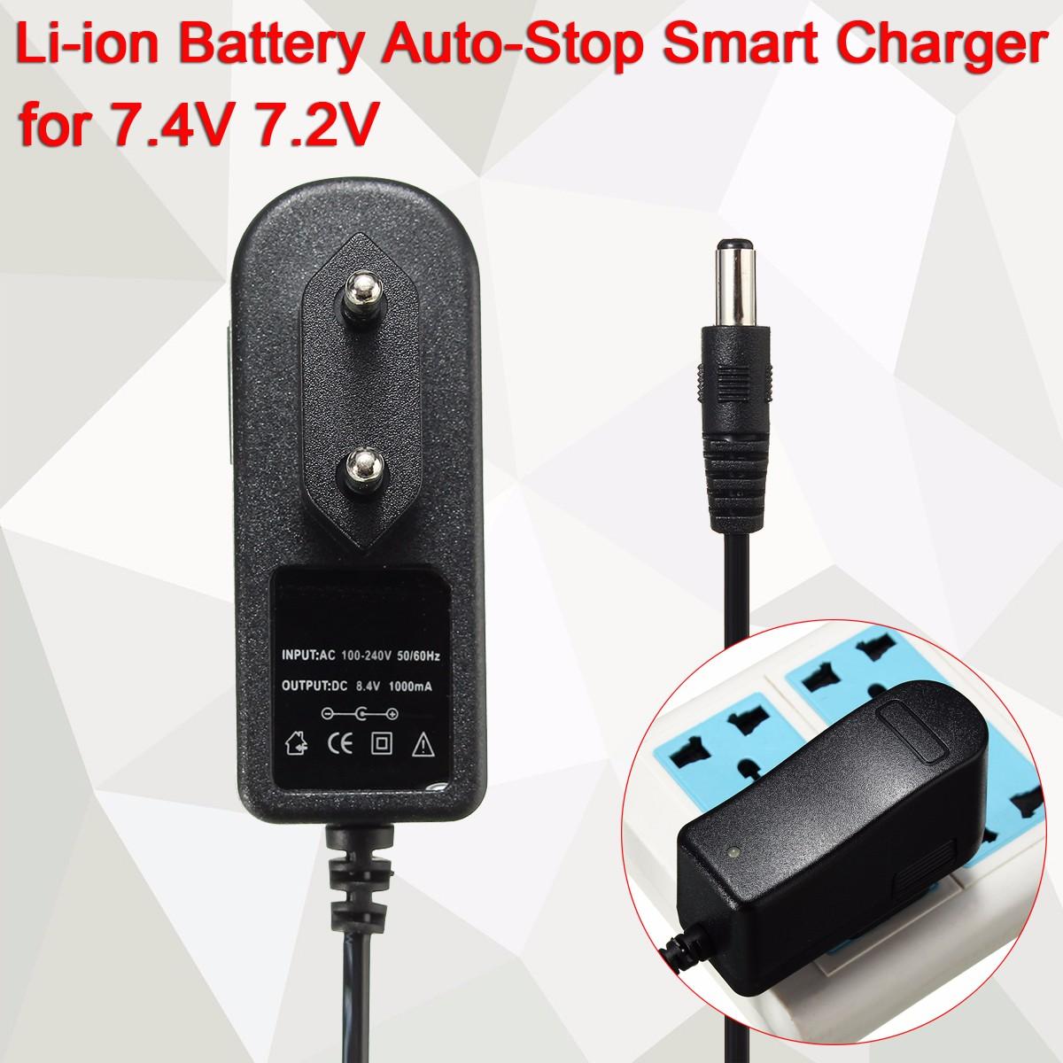 Smart Charger 8.4V 1A for 7.4V 7.2V Li-ion Li-po Battery Auto-Stop