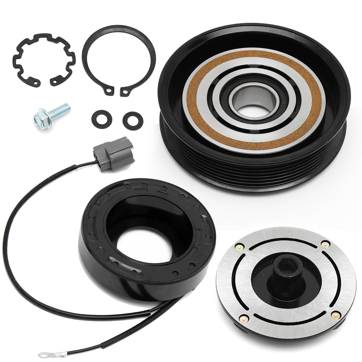 New AC A/C Compressor Clutch Kit For Acura MDX TL Pulley