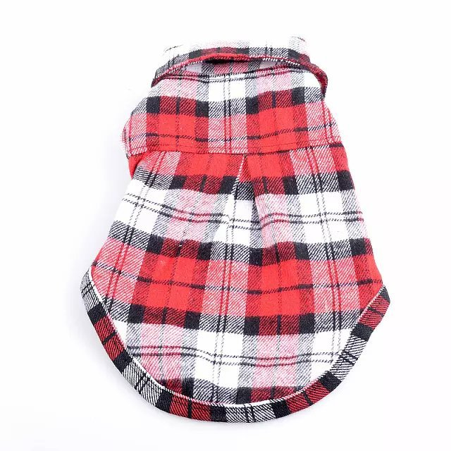 100% Cotton Pet Dog Plaid Stripe T-Shirt Puppy Vest Coat For Small Dog Clothes Classical Style