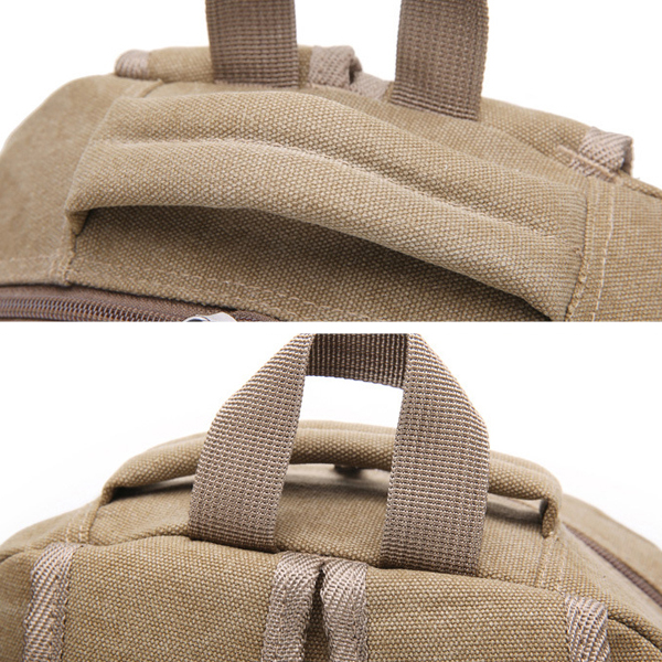 Canvas Big Capacity Travel Backpack Outdoor Hiking Laptop Compartment For Women Men