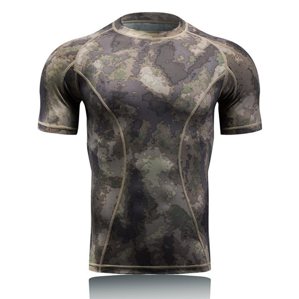Outdoor Quick Dry Elasticity Camouflage Tees