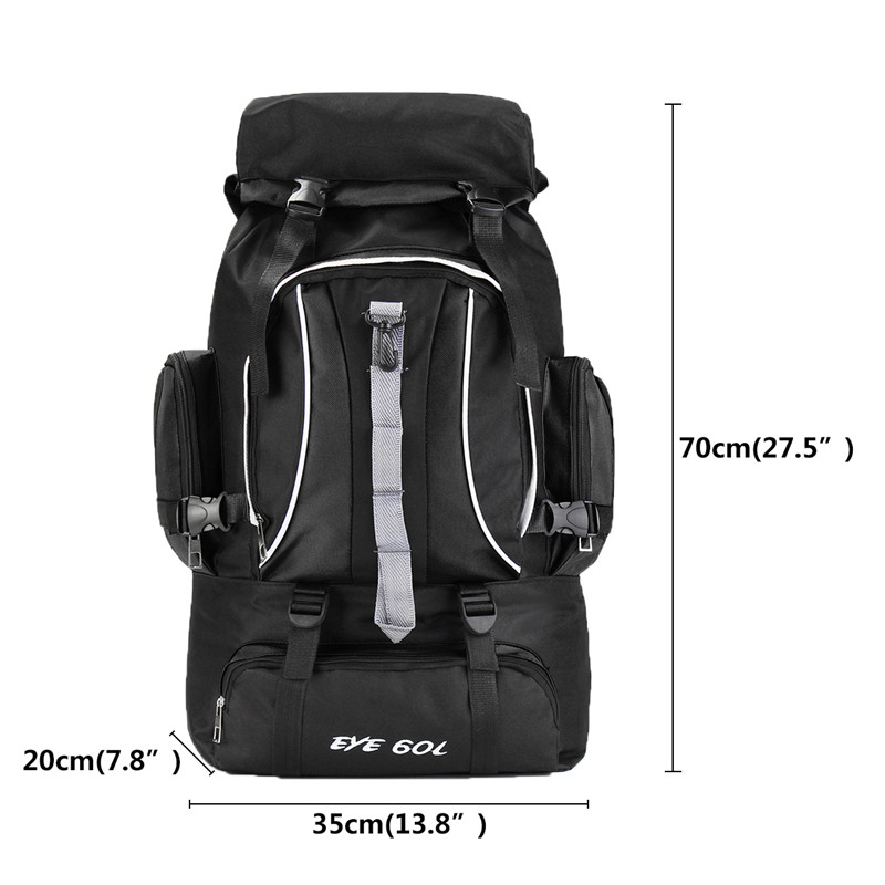 60L Outdoor Camping Hiking Backpack Sports Travel Waterproof Rucksack Large Bag