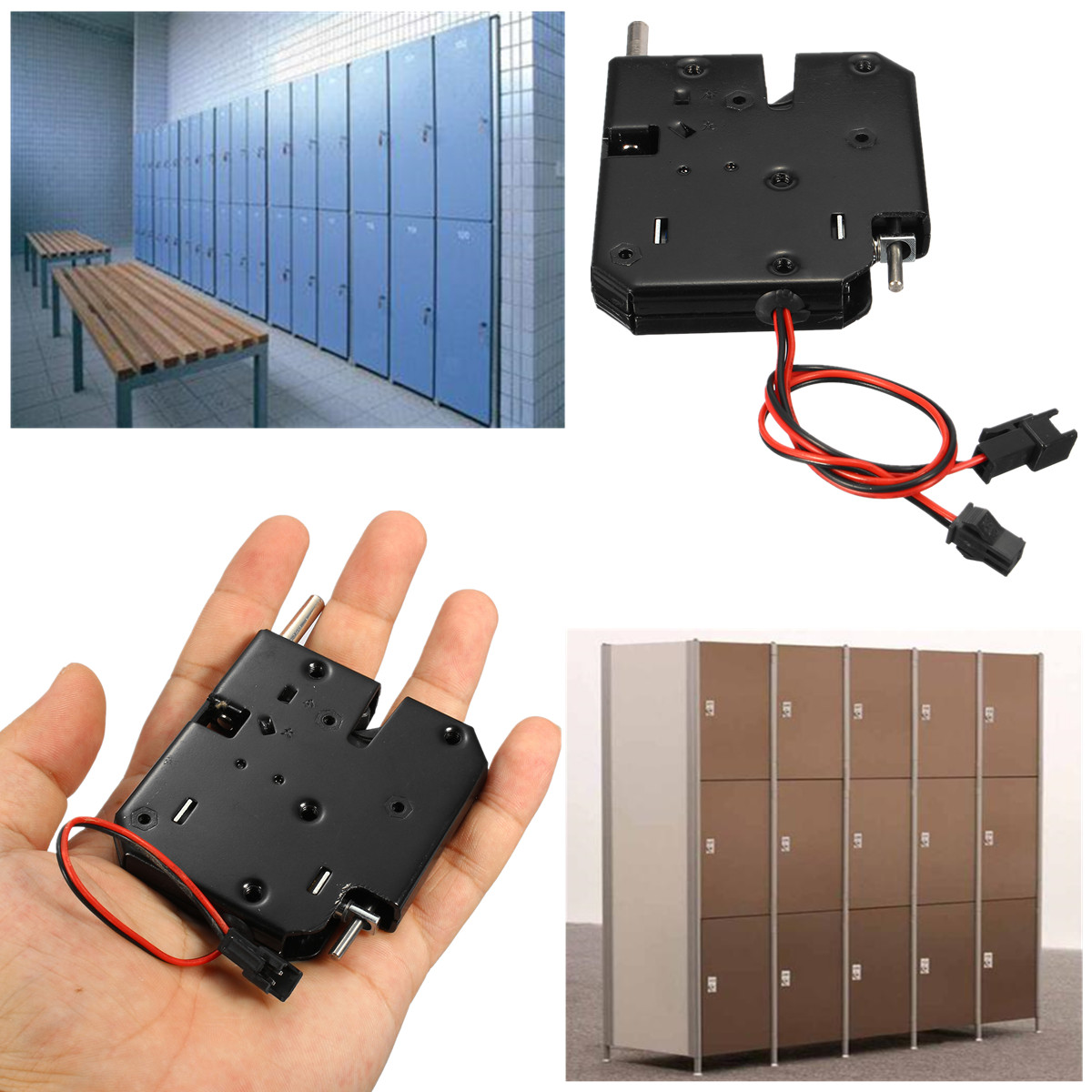 DC 12V/24V Electric Magnetic Lock Door Access Control 150KG/330lbs Holding Force Magnetic Door Lock