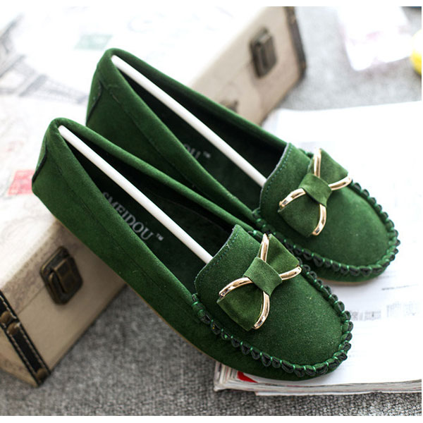 New Women Soft Casual Comfortable Breathable Suede Flats Loafers Slip-On Shoes