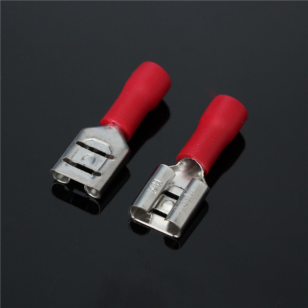 22-18AWG Insulating Female Spade Terminal Electrical Crimp Wire Connector Red