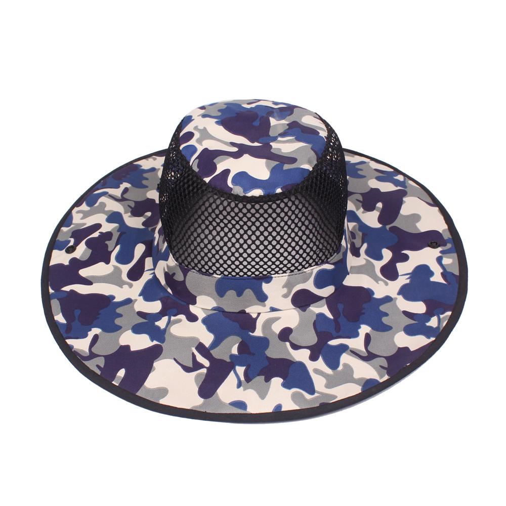 Mesh Breathable Bucket Hat Gardening Fishing Cap