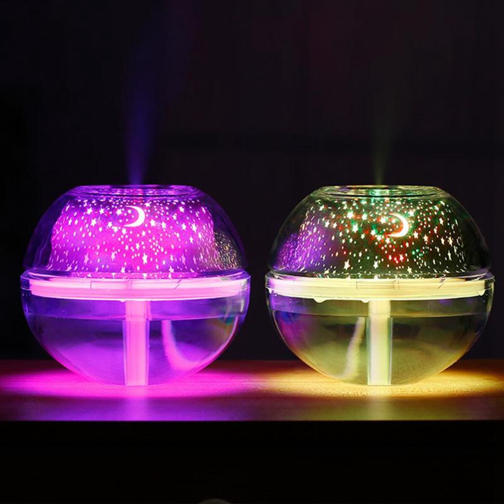 4W Colorful USB LED Crystal Night Light Projector Air Humidifier Diffuser Silent for Bedside Home