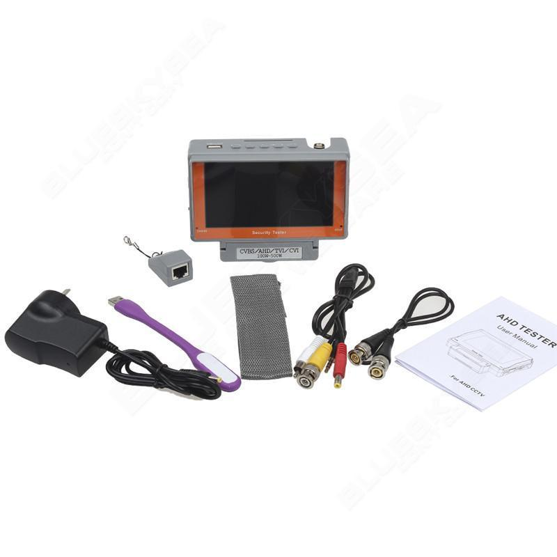 EYOYO 4 In 1 Wrist 5Inch CVBS/AHD/TVI/CVI CCTV Camera Test Display Monitor Tester Audio PAL NTSC AHD