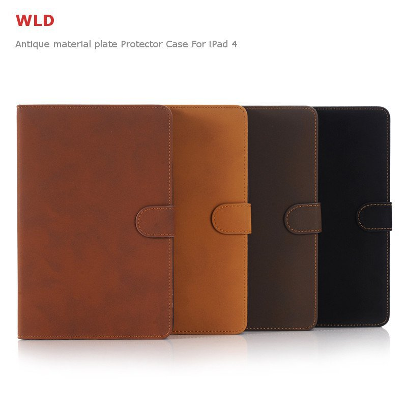 WLD A001 Retro Classic Style Antique Material Flip PU Leather Protective Cases For iPad Mini 4