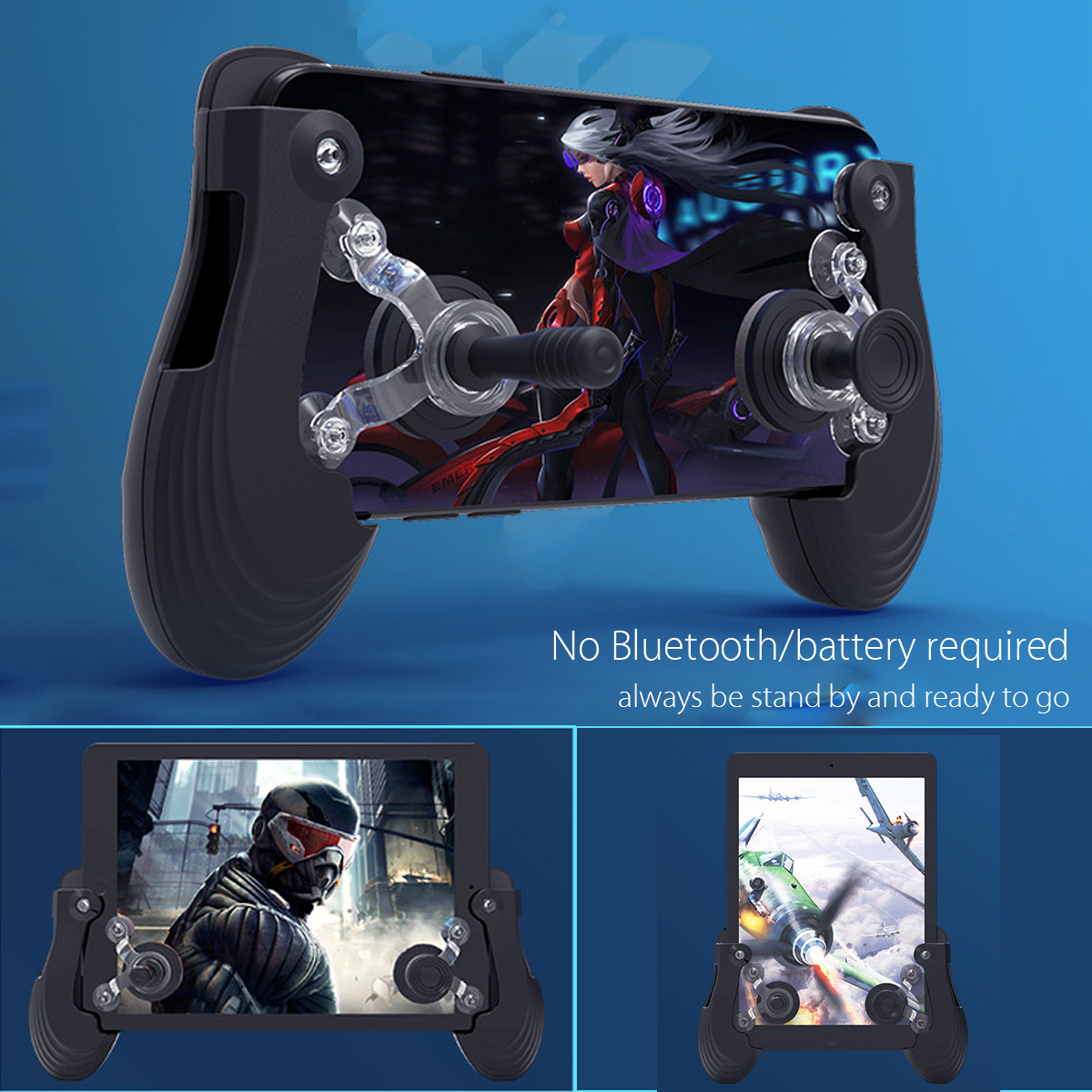 Mobile Phone Gaming Game Controller Gamepad Joystick Handle For PUBG iOS Android Pad