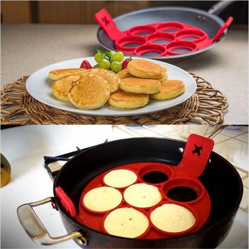 Honana CF-BW86 Silicone Perfect Pan Cake Mold Non-stick Pan Cake Cake Omelette Mold Maker Egg Ring