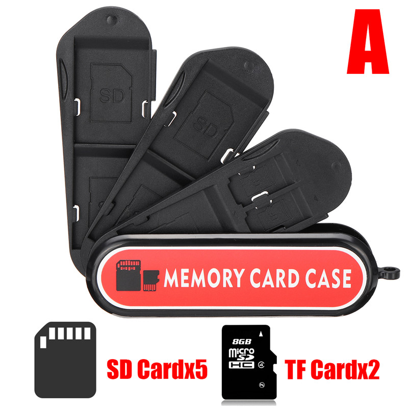 Universal Portable Large Capacity Memory Card TF Card SIM Card Collection Case Storage Box