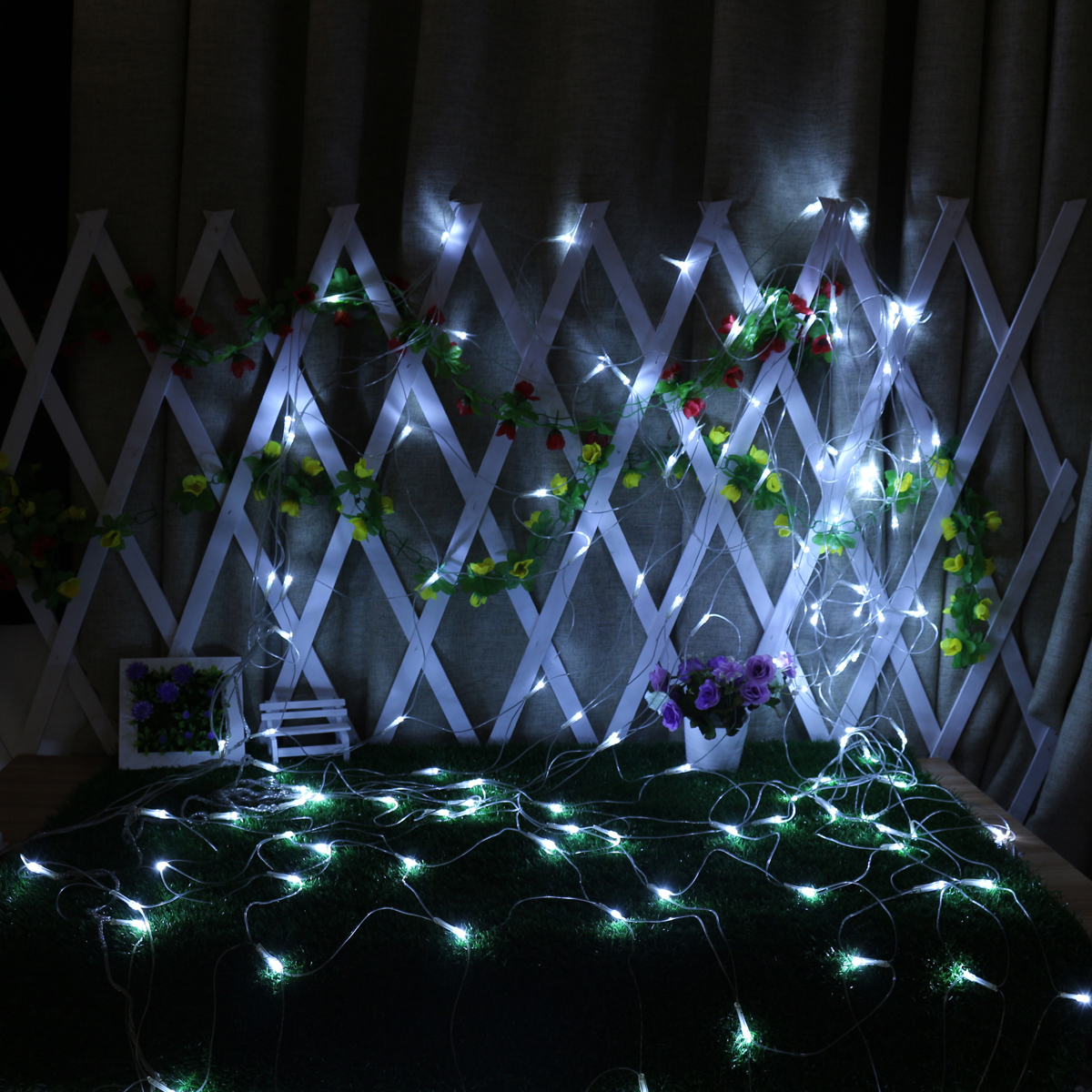 2M*3M 3M*3M Waterproof Mesh Net LED Fairy String Light For Wedding Christmas EU Plug
