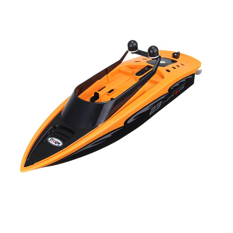 Image of 2.4Ghz 4-Kanal-Laden High-Speed Wireless RC Racing Boot wasserdicht Orange