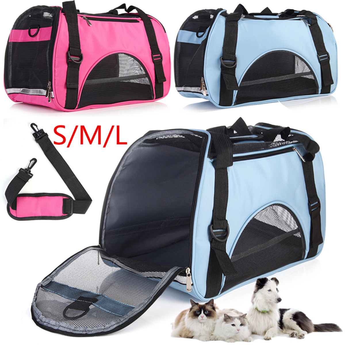 Pet Carrier Pet Travel Portable Bag Carrier Soft Side Bags for Dogs and Cats