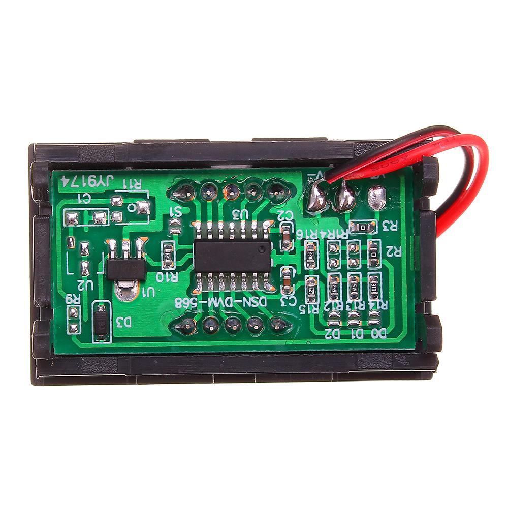 3pcs Green 0.56 Inch Mini Digital Voltmeter DC 4.5V To 30V Digital Voltmeter Voltage Panel Meter For 6V 12V 24V Electromobile Motorcycle Car