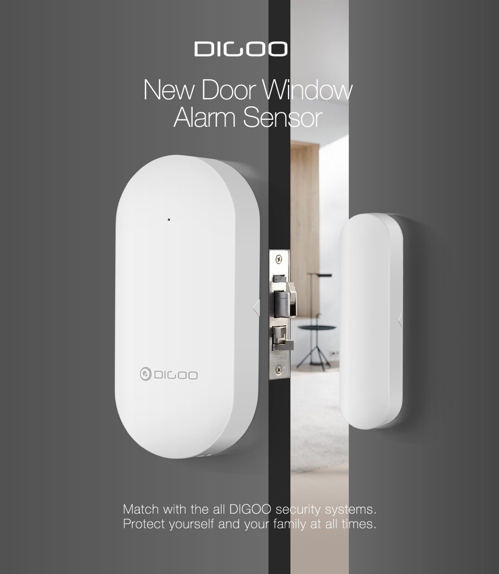 DIGOO 433MHz New Door & Window Alarm Sensor for HOSA HAMA Smart Home Security System Suit Kit Access