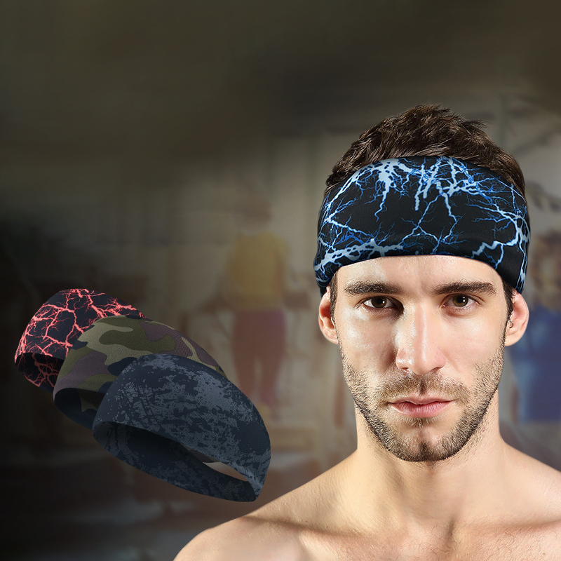 Men Women Fitness Sweat Multi-function Headband
