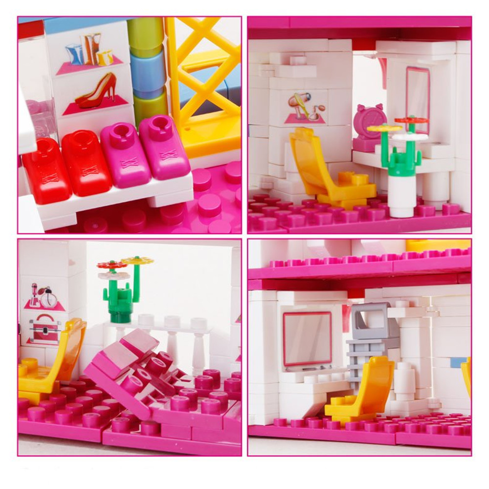 BanBao Building Blocks Toys Beauty Hair Salon Bricks Model Toy 6111 Compatible With Legoe For Girl