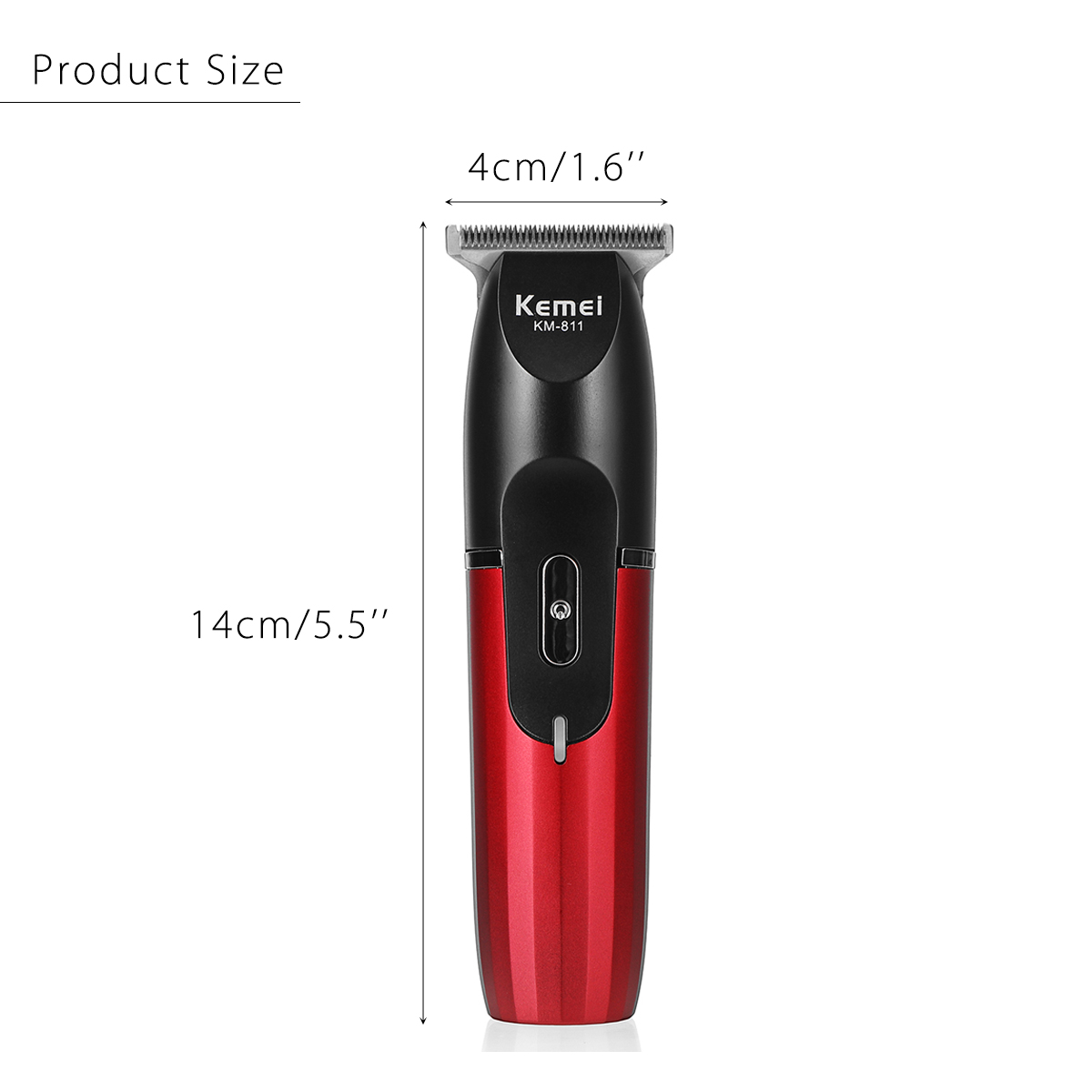 KEMEI KM-811 Hair Trimmer Clipper Rechargeable Cutting