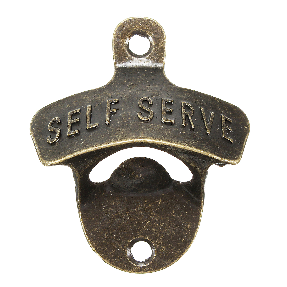 Zinc Alloy Wall Mounted Opener Bronze Wine Beer Bottle Opener