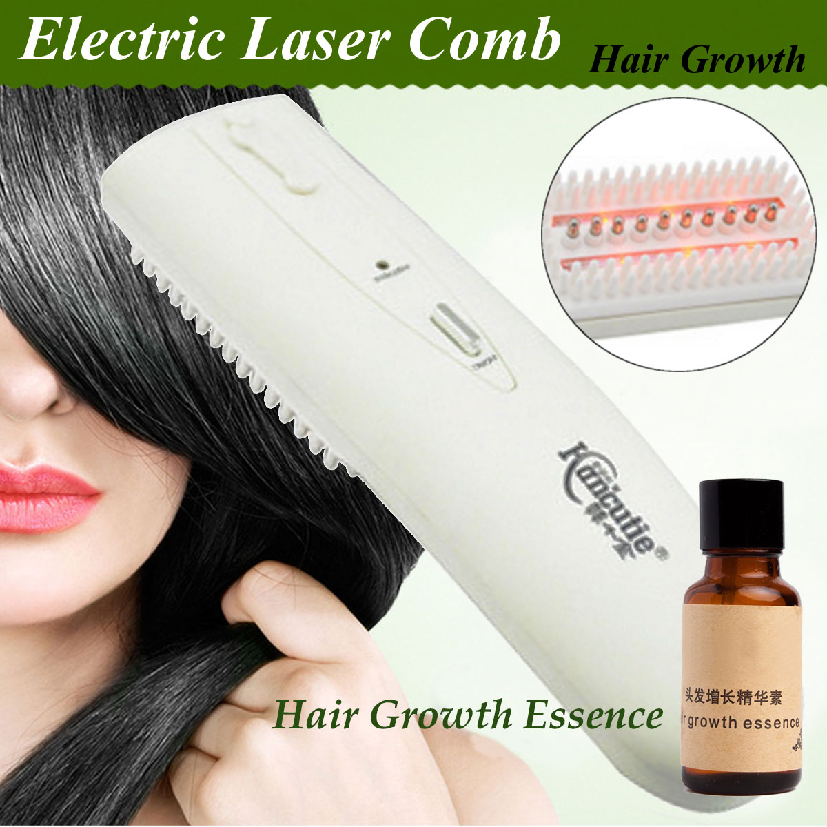 3 in 1 Laser Therapy Comb Hair Growth Hair Loss Treatment Regrowth Styling Tools