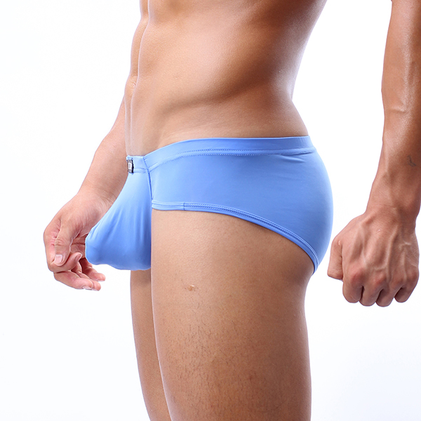 Sexy Super Thin Solid Color Soft Low Waist Breathable Briefs for Men