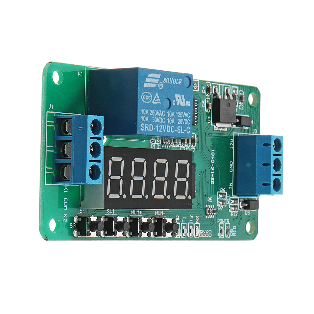 DC 12V CE030 Multifunction Self-lock Relay PLC Cycle Delay Timer Control Module